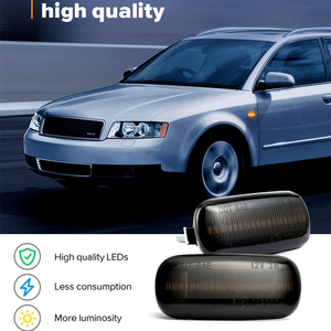 Image 2 - 2 pieces Led Dynamic Side Marker Turn Signal Light Sequential Blinker Light For Audi A3 S3 8P A4 S4 RS4 B6 B7 B8 A6 S6 RS6 C5 C7