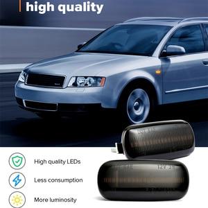 Image 2 - 2 stück Led Dynamische Seite Marker Blinker Licht Sequentielle Blinker Licht Für Audi A3 S3 8P A4 S4 RS4 B6 B7 B8 A6 S6 RS6 C5 C7