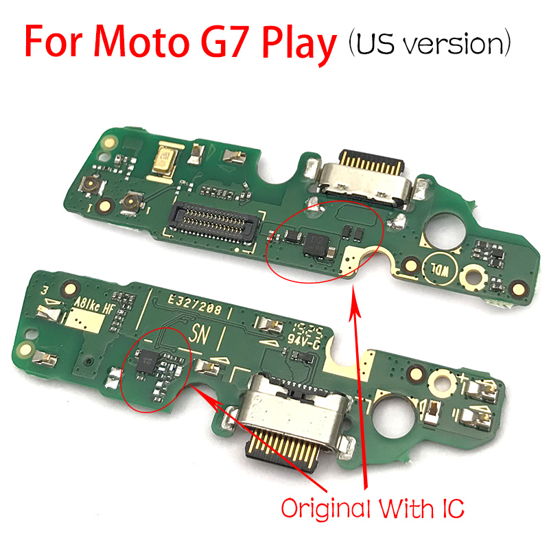 Original For Motorola Moto G7 Play US Version  USB Charge Port Jack Dock Connector Charging Board Flex Cable