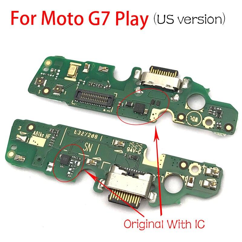 Original For Motorola Moto G7 Play US Version  USB Charge Port Jack Dock Connector Charging Board Flex Cable