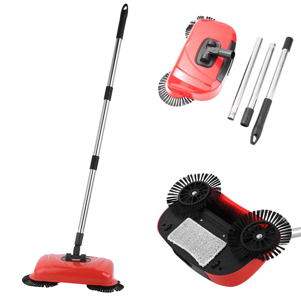 Stainless Steel Sweeping Machine Push Type Hand Push Magic Broom Dustpan Handle Household Cleaning Package Hand Push Sweeper Mop Hand Push Sweepers     - title=