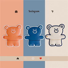 3D Cartoon Little Bear Earphone Cover For AirPods 2 Cute Case Silicone Air Pods Pods Pro Accessories Airpods2 Funda Keychain 3d lucky rat cartoon bluetooth earphone case for airpods pro cute accessories protective cover for apple air pods 3 silicone