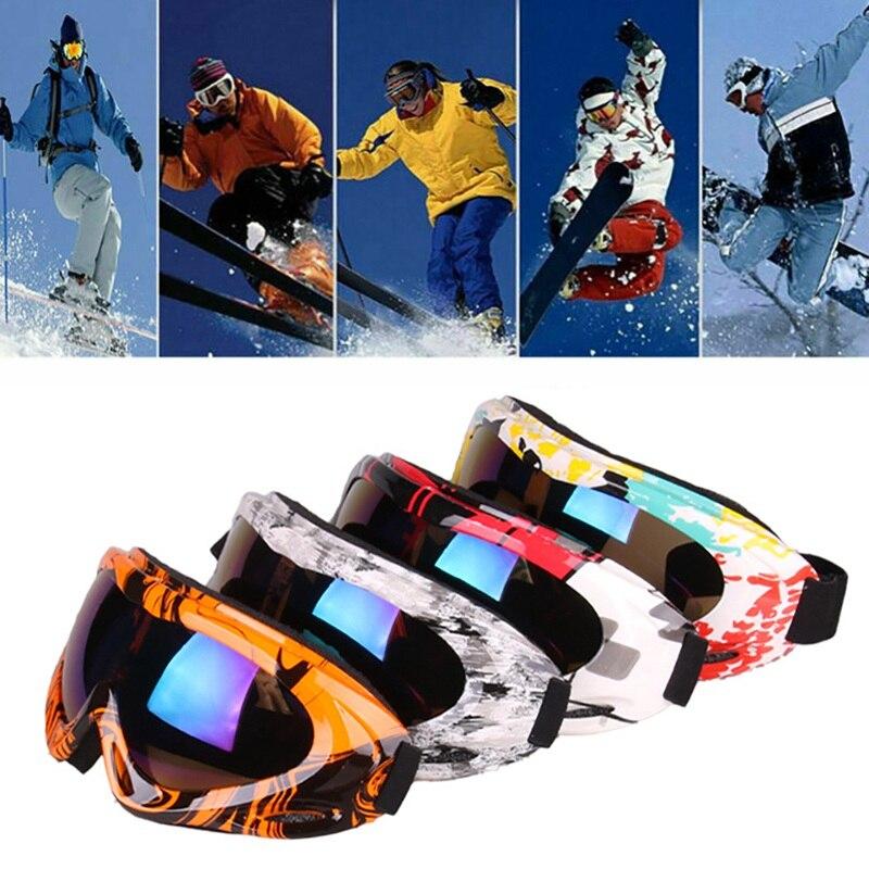 Adult Children Ski Goggles Windproof Dust-proof Adjustable UV 400 Outdoor Sports Protective Snowboard Sun Glasses Eyewear