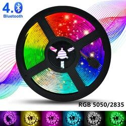 Светодиодный ленточный светильник WiFi RGB 5050 SMD 2835 водонепроницаемая гибкая лента с Bluetooth управлением DC12V 5M 10M 15M 20M праздничный Декор