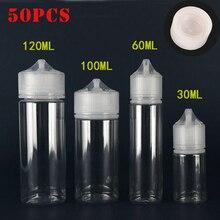 Пустые пластиковые пипетки для жидкости для электронных сигарет, 50 шт., 30/60/100/120 мл