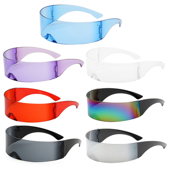 Party Glasses Visor Wrap Shield Large Mirror Sunglasses Riding Windproof Fashion Personality Equipments