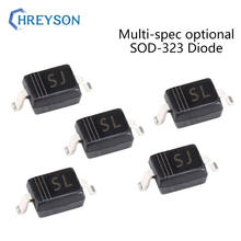 100Pcs SMD Schottky Barrier Diode B5819WS SL BAV21WS T3 B5817WS SJ BAS316 BA592 BAT54H BC847AW 20V 30V 40V Eletrônico SOD-323