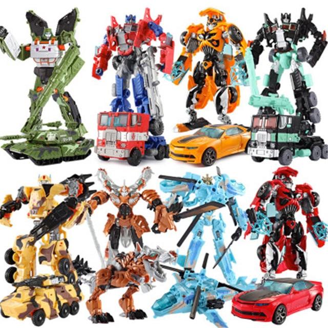 19cm Transformation Car Robot Toys Bumblebee Optimus Prime Action Figure Dinosaur Tank Model Toys For Kids Children Gift