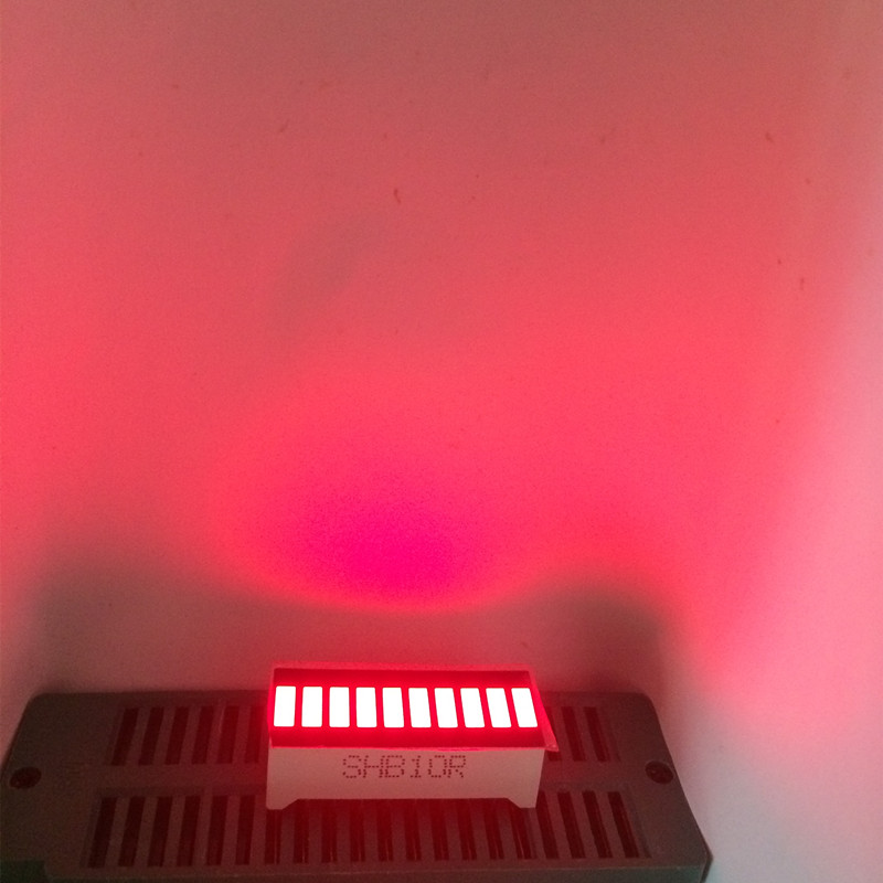 50pcs 10 Segment LED Bar Graph Array Number LED Signs Cube RED Light Bargraph Graphic-Bar Display Red 10 Bar LED Displays Board
