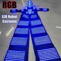 Stilts Walker LED Light Costumes LED Dancer~ Costume 2.5m LED Robot Suit For Party Performance Electronic Music Festival~DJ Show