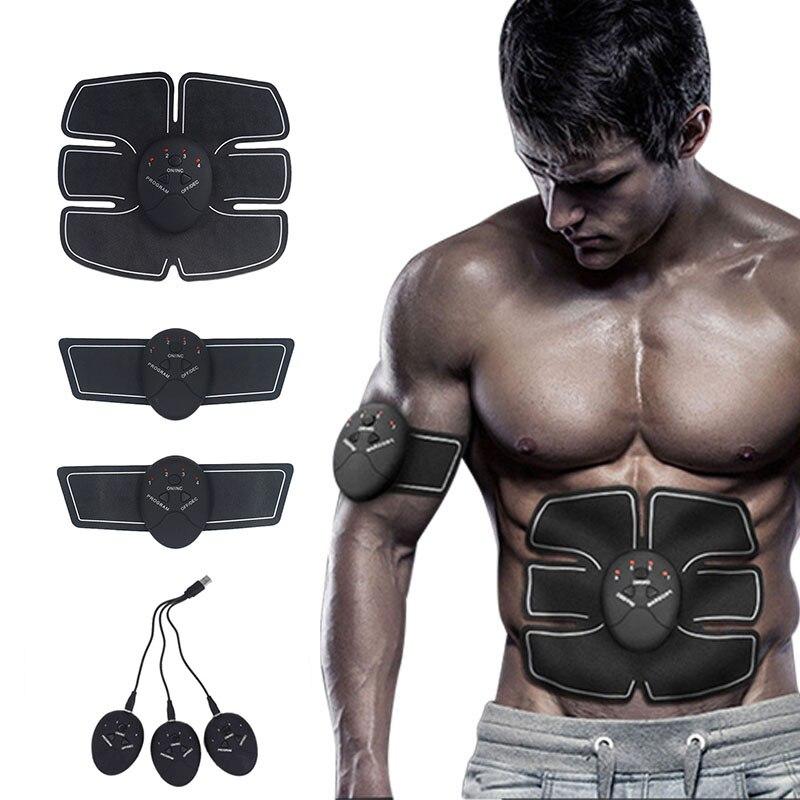Перезаряжаемый беспроводной мышечный Стимулятор, умный фитнес-EMS, тренажер для тренажерного зала, тренажер для мышц брюшной руки, массажер ...