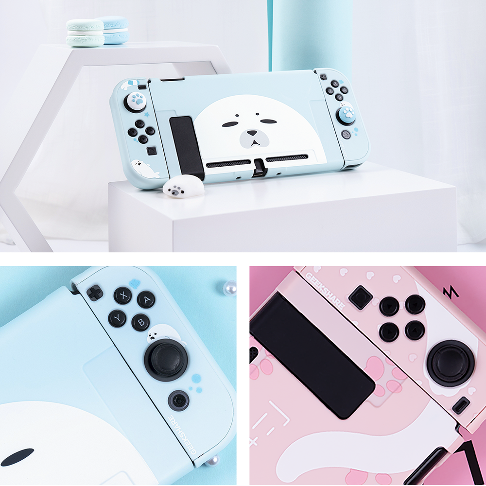 Nintend NS Switch Silicone PC Protective Case Cover Shell Set For Nintendo Switch Console Accessories Joy-Con Controller Case