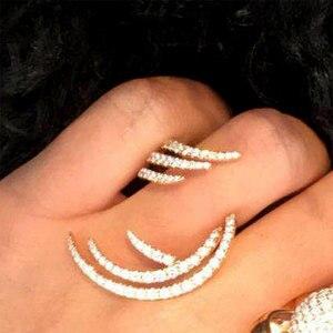 Image 2 - GODKI 2019 Charm Trendy Angel Wing Statement Stacks Rings for Women Cubic Zircon Finger Rings Beads Ring Boho Beach Jewelry