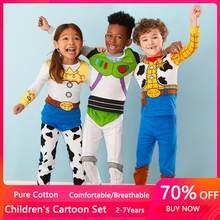 Pijamas de Woody Buzz Lightyear para niños, conjuntos de ropa para niñas y niños, 2 uds.