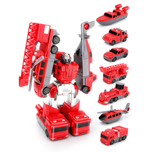 Deformation Robot Magnetic Toy DIY Boy Car New Assembly CT0153 Engineering Vehicle Manual