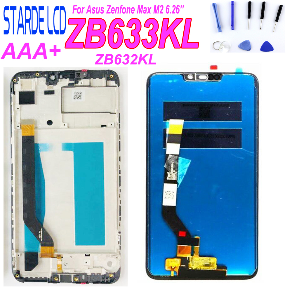 6.26 LCD For Asus Zenfone Max M2 LCD Display Touch Screen Digitizer Assembly For Zenfone Max M2 ZB633KL ZB632KL With Frame