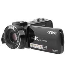 AC7 4K Цифровая видеокамера 10X оптический зум рекордер поддержка HDMI выход Автоматическая облачная Вольфрамовая лампа накаливания