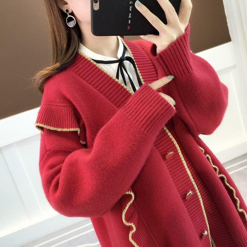 Spring Autumn Sweater Women Clothes 2020 Cardigan Jacket Korean Vintage Streetwear Women's Sweaters Tops Casaco Feminino ZT3056