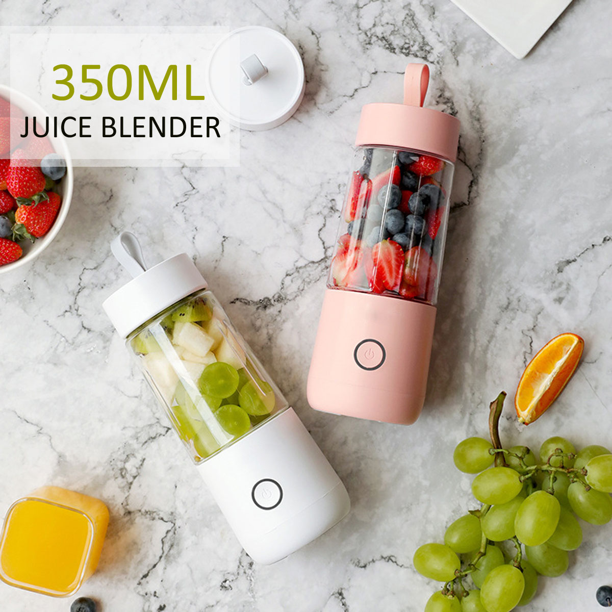 Warmtoo 380ml Portable Juicer Electric USB Rechargeable Smoothie Blender Machine Mixer Mini Juice Cup Maker Fast Blenders