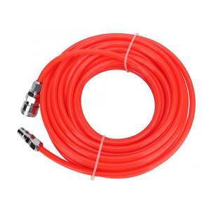 Image 2 - 5*8mm 고압 유연한 공기 압축기 호스 남성/여성 빠른 커넥터 15 m 빨간색 공기 호스