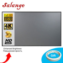 Salange Projector Screen,72 84 100 120 inch Reflective Fabric Cloth For YG300 XGIMI H2 HALO Mogo Pro JMGO Xiaomi DLP Projector(China)