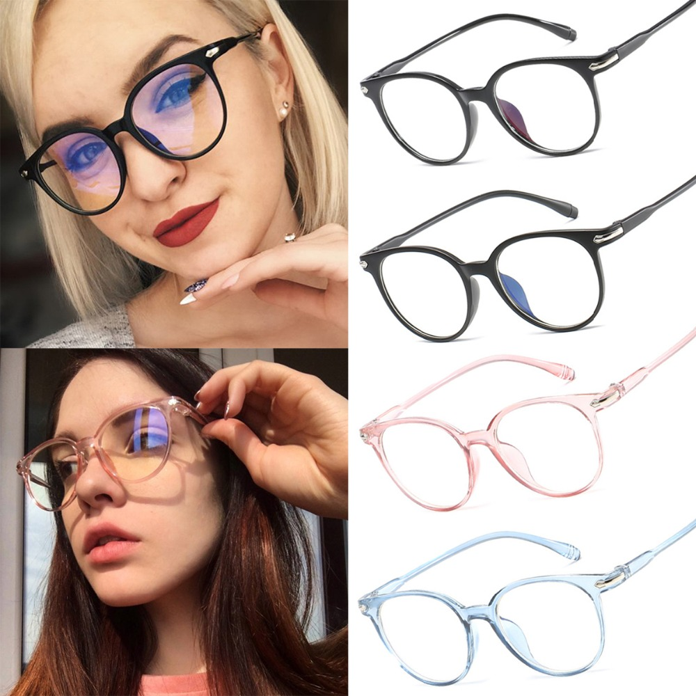 No-Dioptric Eye-Glasses-Frame Round Women Fashion Cute New For Female