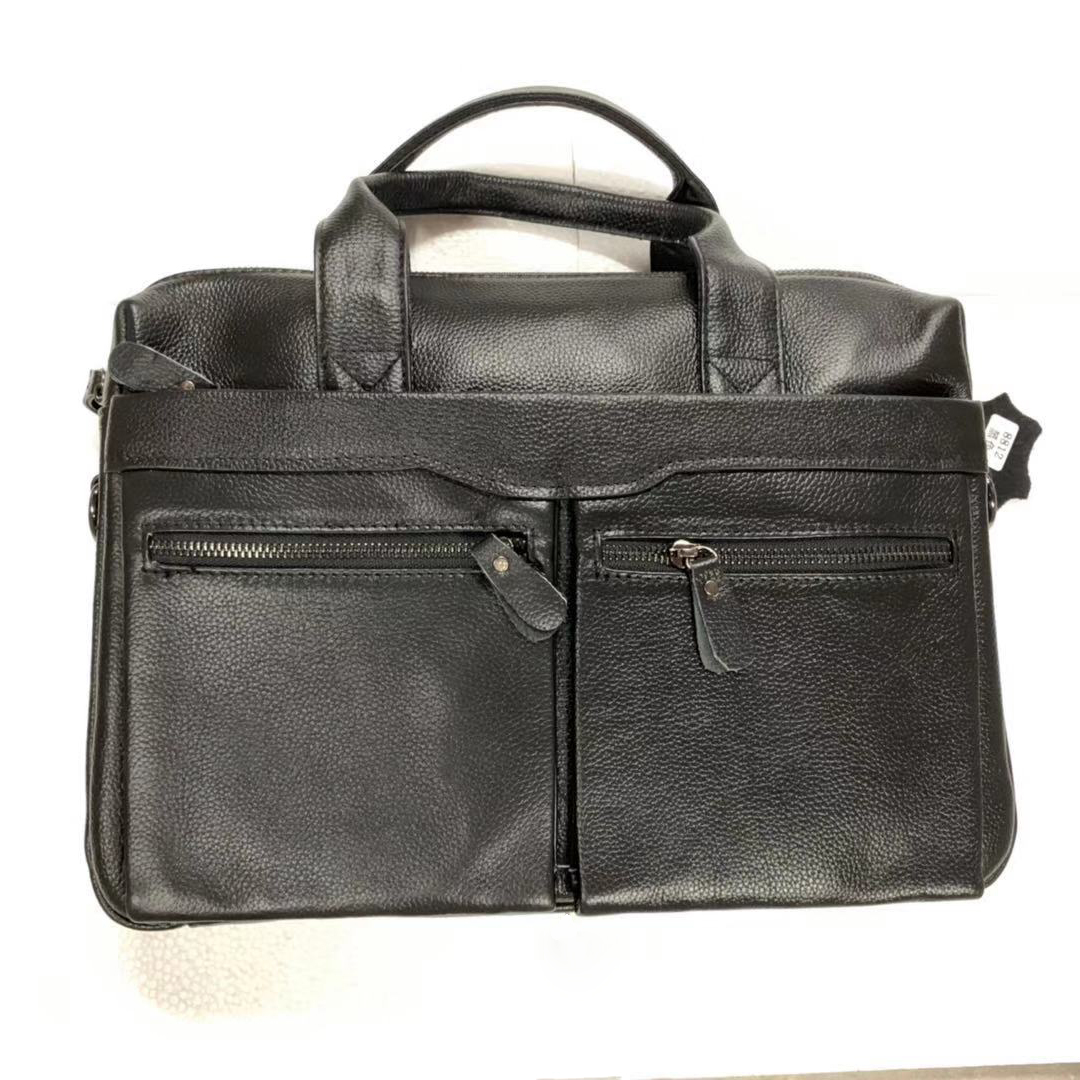 New Luxury Cow Genuine Leather Business Men's Briefcase Male Briefcase Shoulder Bag Men's Messenger Bag Tote Computer Handbag