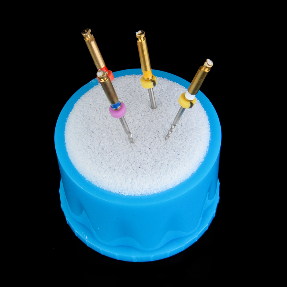 Dental Endo Stand Cleaning Foam Sponge File Holder Autoclavable Dispenser Endo Clean