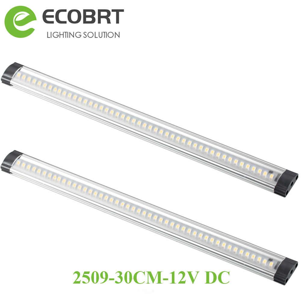 Led Unter Schrank Lichter in Küche 2 teile/los 30cm lange 12v aluminium Display beleuchtung bar für möbel/schaufenster/kleiderschrank 3W