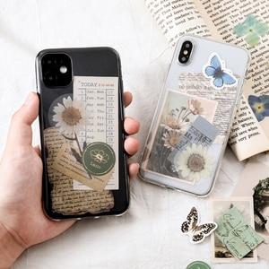 Journamm 15 шт. Винтаж Клейкой Ленте, телефон-деко канцелярские принадлежности в стиле «Ретро» принадлежности наклейки