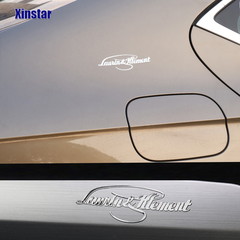 2pcs Stainless Steel Laurin & Klement Interior Sticker For Superb Fabia Octavia Rapid Superb Yeti