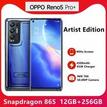 Neue OPPO Reno 5 Pro + Plus Handy 6,55 inch OLED 90Hz Bildschirm 65W Super VOOC 4500mAh Android 11 Farbe OS11 Mobile