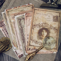 Vintage Yellowed Old Photo Series Stickers DIY Junk Journal Scrapbook Album Diary Mobile Computer Happy Plan Decoration Stickers