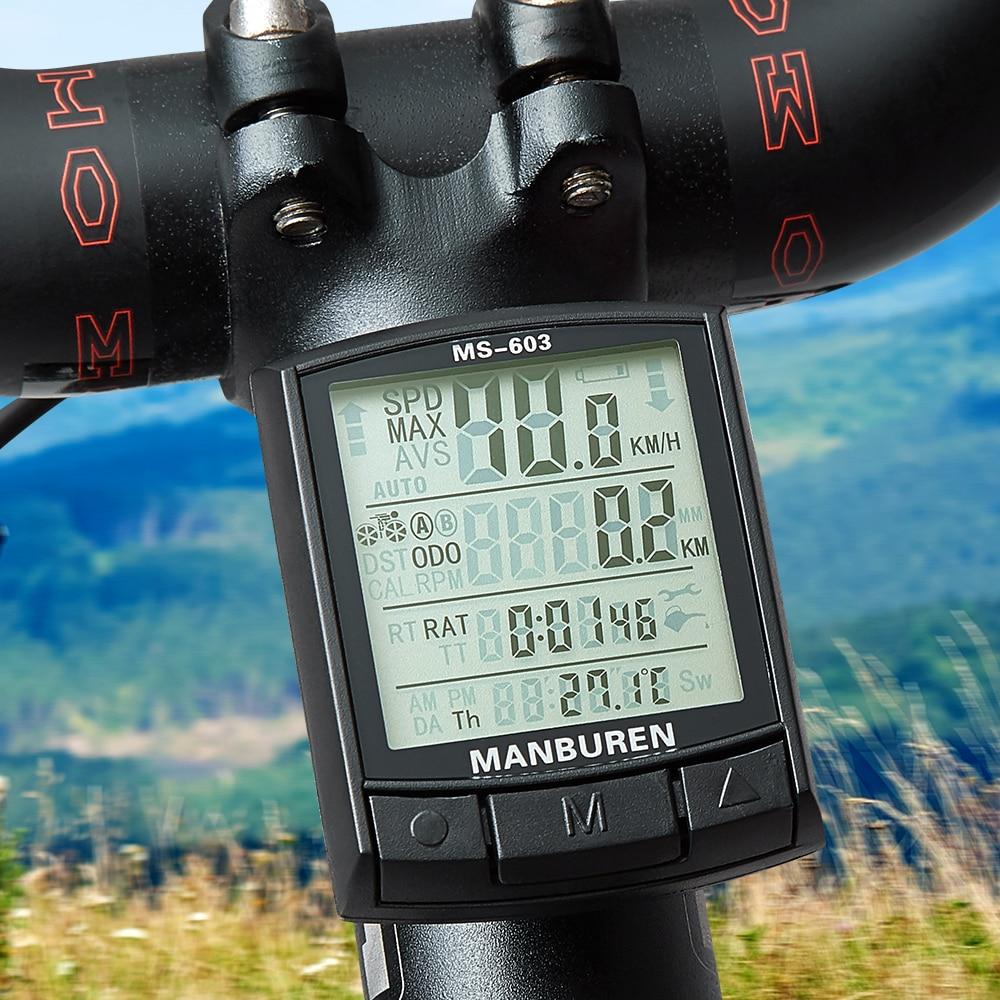 BOGEER Waterproof Bicycle Computer Wireless And Wired MTB Bike Cycling Odometer Stopwatch Speedometer Watch LED Digital Rate