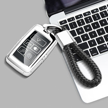 Soft TPU Car Key Cover Casewith Keychain For Land Rover 2018 2019 New Range Rover Sport Velar Discovery 5 Jaguar E-PACE soft tpu car key case cover keychain for toyota avalon 8 camry 2019 levin ioza chr