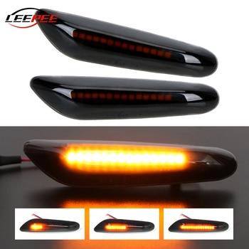 LEEPEE Car Turn Signal Lamp For BMW E90 E91 E92 E93 E60 E87 E82 E46 LED Light Auto Indicator Left Right Flow Lights Accessories