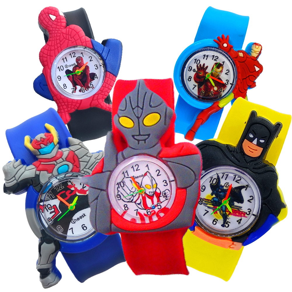 Wholesale 2020 New Children's Watch Men Students Clock Children Boy Spider Man Watch Creative Cartoon Kids Watches Montre Enfant