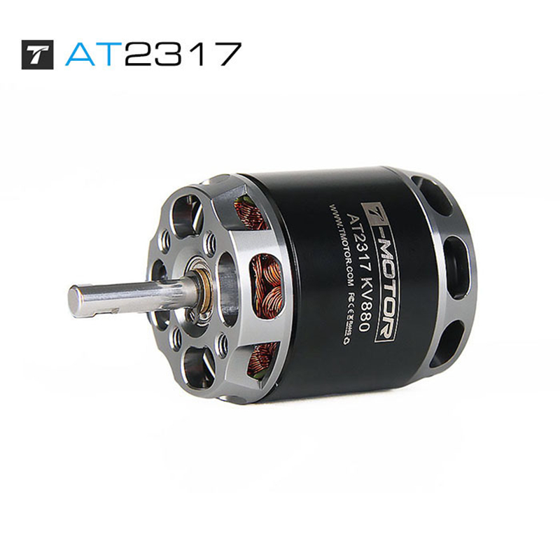 T-<font><b>Motor</b></font> Long Shaft Outer Rotor <font><b>Brushless</b></font> 880KV 1400KV <font><b>1250KV</b></font> <font><b>Motor</b></font> AT2317 for FPV racing drone rc fixed wing Accessories image