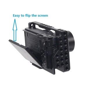 Image 4 - עבור Sony RX100M3/RX100M4/RX100M5 מצלמה כלוב עבור Sony RX100 III/IV/V M3/M4 /M5 Pro DSLR מצלמה כלוב מצלמה Rig קר נעל