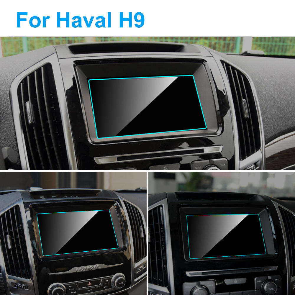 For Haval H9 2015-2020 Car GPS Navigation Screen Protector Auto Interior 9H Tempered Glass Protective Film Car Accessories