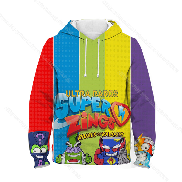 Kids 3D Print Super Zings Hoodie Autumn Winter Children Superzings 6 Series Sweatshirt Sudadera Boy Girl Cartoon Anime Pullover 31