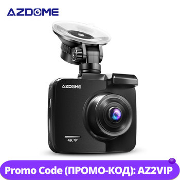 AZDOME GS63H 2.4inches 4K registrar LCD Screen Dash cam Built in GPS Speed Coordinates WiFi DVR 2160p Dual Lens Video recorder image