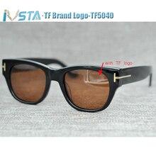IVSTA TF 58 5040 Sunglasses Wome Real Handmade Acetate Men Tom Luxury Brand Designer Demi Tortoise with logo Big Oversized Punk