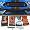 Front Grille Emblem for Cobra Logo Exterior Car Styling Metal Sticker for Ford Shelby Mustang GT350 F150 Focus Ecosport Mondeo 1