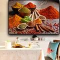 Красочные зерна ложка для специй Фрукты Кухня холст картины плакаты и принты настенные художественные картины для гостиной украшения дома