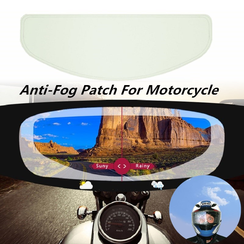 Clear Pinlock Anti-fog Patch Motorcycle Full Face Generic For K3 K4 AX8 LS2 HJC Marushin Helmets Lens Anti-fog Visor