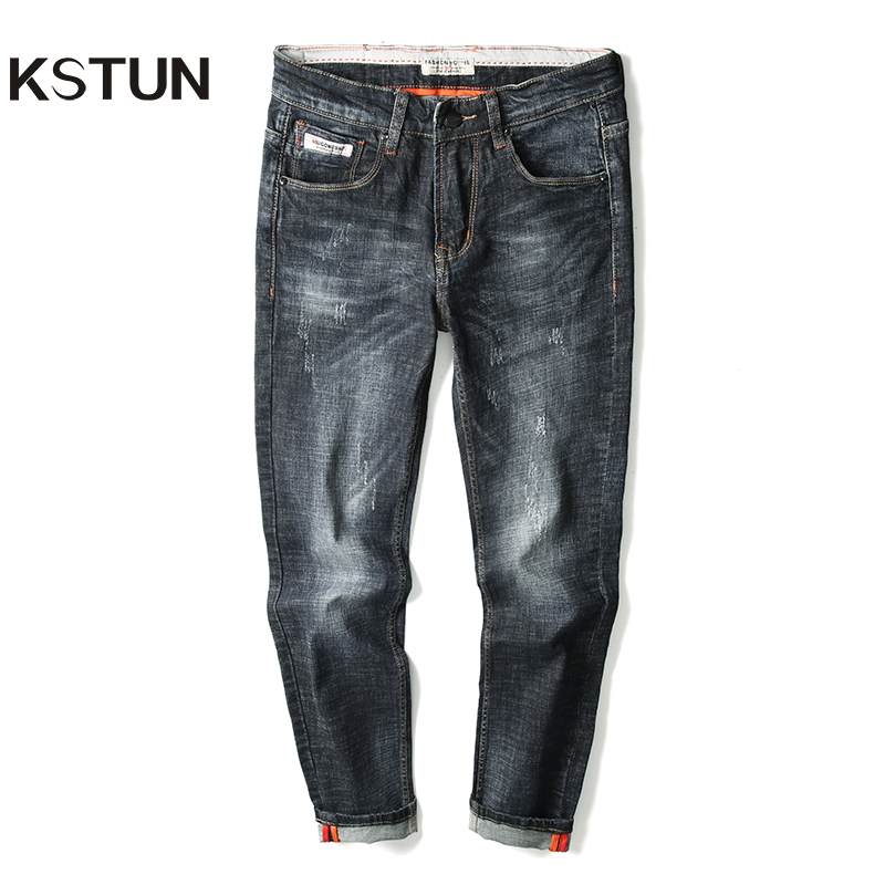 KSTUN Mens Jeans Brand Black Blue Stretchy 2019 New Fashoin Autumn Male Washed Classic Trousers Pantalon Mezclilla Caballero