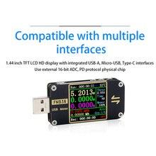 FNB38 вольтметр измеритель тока USB тест er QC4 + PD3.0 2,0 Быстрая зарядка тест er метр Мобильный детектор уровня мощности батарея тест