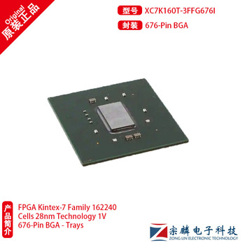 Nowa oryginalna xc7k160t-3ffg676i programowalna bramka 676bga xc7k160t tanie i dobre opinie CN (pochodzenie) Nowy Regulator napięcia Komputer standard 100TQFP