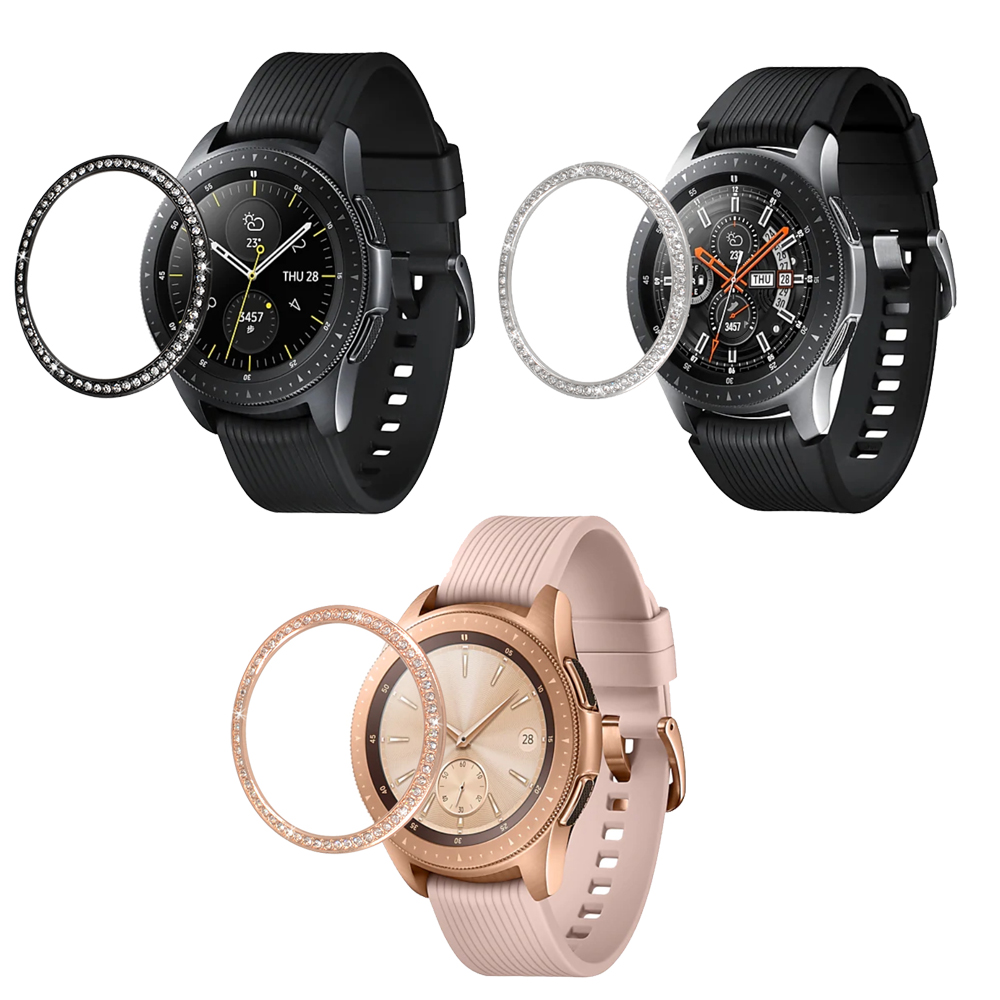 Metal cover For Samsung Galaxy Watch 46mm/42mm Case Gear S3 Frontier/Classic sport Adhesive Cover band strap Accessories 46/42